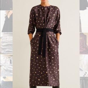 Mango Bow polka-dot dress new with tags